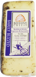 Beehive Barely Buzzed Cheddar Rubbed With Espresso and Lavender