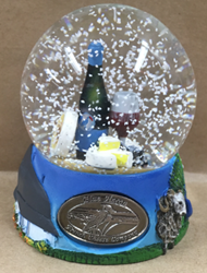 Blue Heron Snow Globe