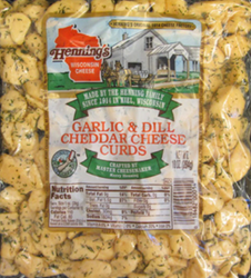 Hennings Garlic & Dill Cheddar Cheese Curds