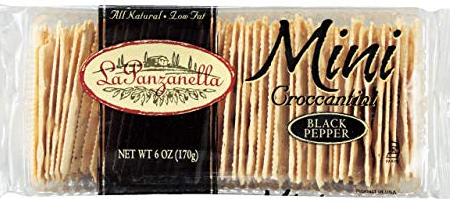 La Panzanella Mini Croccantini Cracked Pepper Crackers 6 ounce