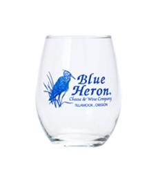 Wine Glass - Stemless, Blue Letters