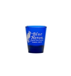 Short Blue Shot Glass