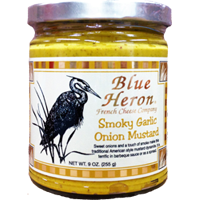 Blue Heron - Smoky Garlic Onion Mustard