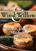 Wind & Willow Bacon Stuffed Mushroom Cheeseball & Appetizer