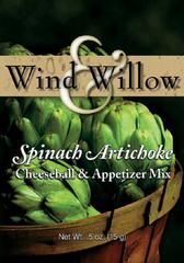 Wind & Willow Spinach-Artichoke Cheeseball & Appetizer Mix
